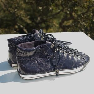 Coach Gwendolyn Blue Patent Sneakers 8